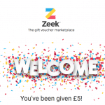 Zeek UK Gift Card Marketplace £5 Promo Code and £5 Referrals