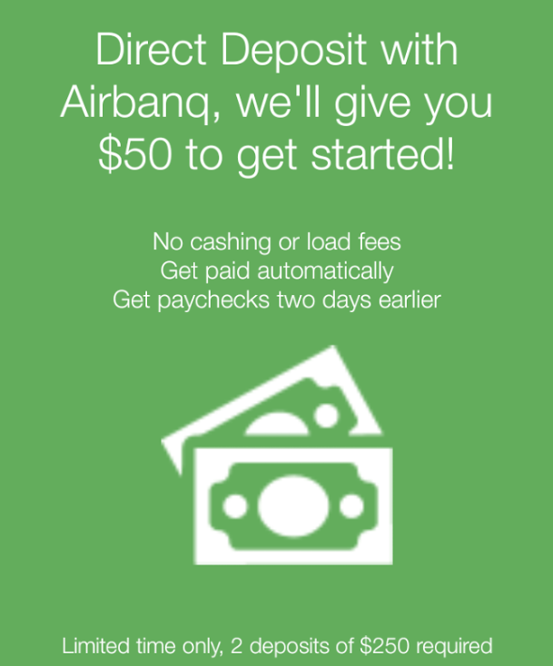 Airbanq Direct Deposit Bonus