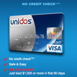 Unidos Visa Prepaid Card $10 Bonus Credit after $1,000 Load