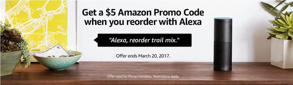 Amazon Alexa Reorder Bonus Credit