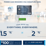 PenFed Power Cash Rewards Visa Signature Card up to 2% Unlimited Cash Back and $100 Bonus