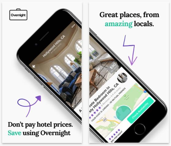Overnight Last-Minute Hotel Alternative Booking App