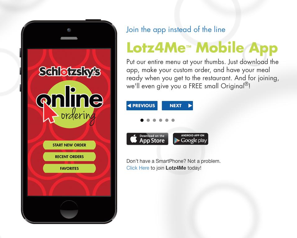 Schlotzskys Lotz4Me App Free Sandwich
