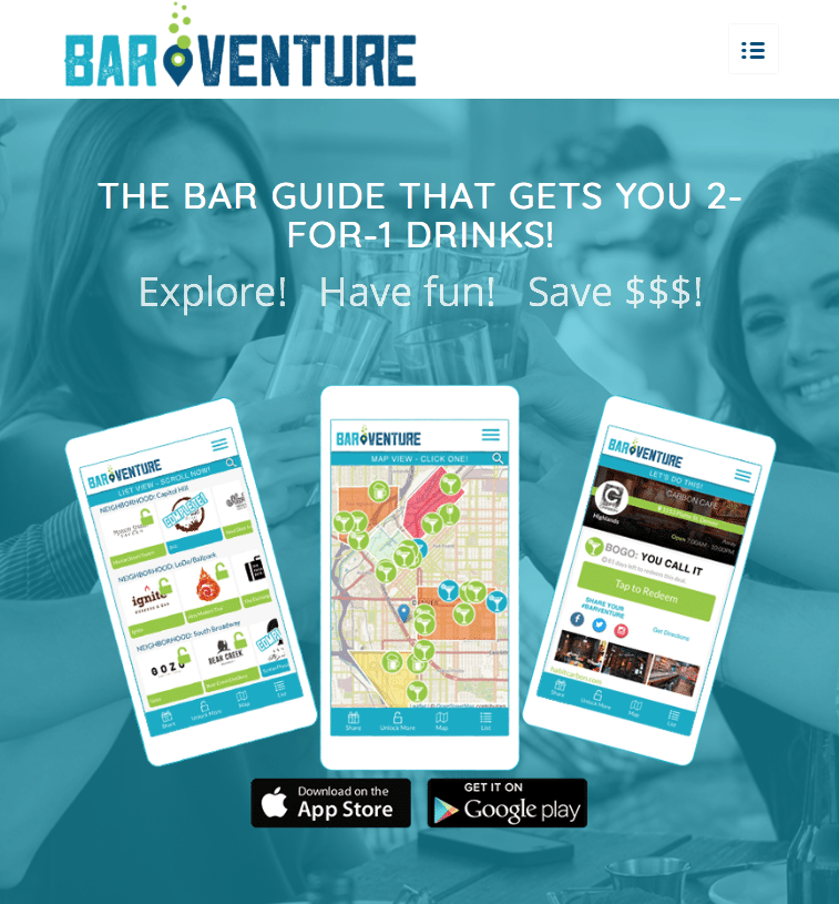 BARVENTURE Bar Guide App Offers 2-for-1 Drinks at Local Hotspots