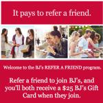 BJ's Inner Circle Membership Referrals for $25 BJ's Gift Card