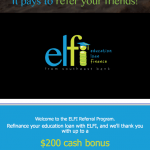 ELFI Education Loan Finance $200 Bonus to Refinance Student Debt