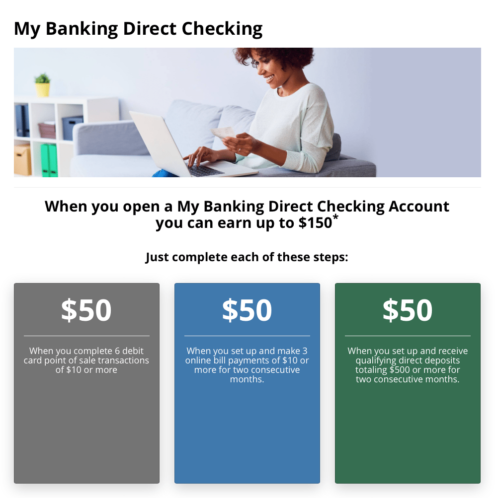 My Banking Direct Checking Account $150 Bonus Promotion – Nationwide