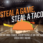 NBA Finals and Taco Bell – Free Doritos Locos Tacos for Road Team Win