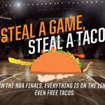 NBA Finals and Taco Bell – Free Doritos Locos Tacos for Road Team Win