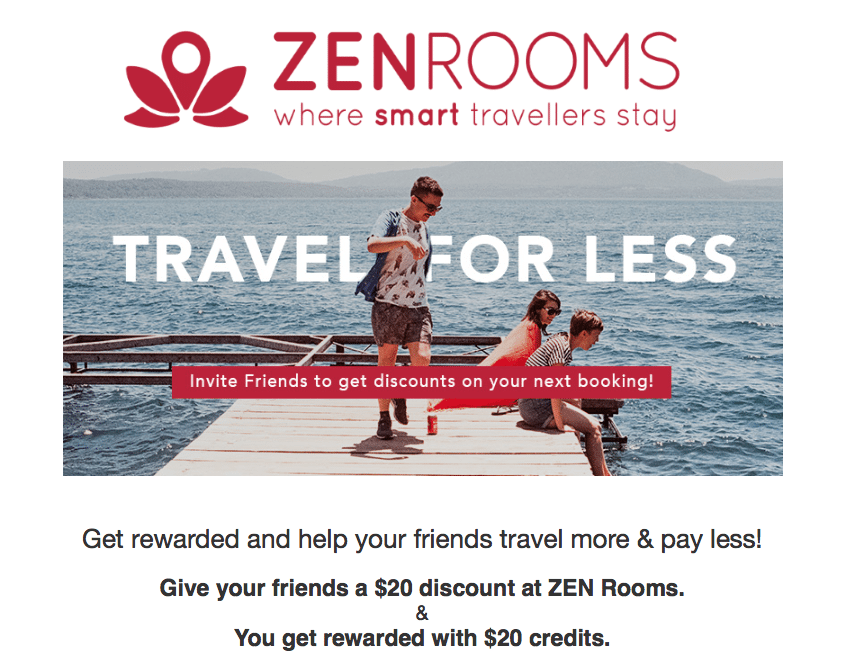 ZEN Rooms Budget Hotel Booking in Southeast Asia $20 Referral Credits