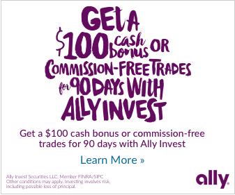 Ally Invest Cash Bonus Commission Free Trades