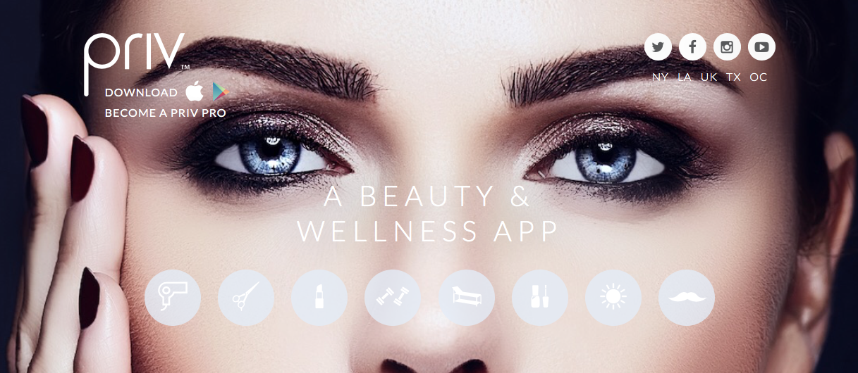 PRIV Beauty and Wellness App