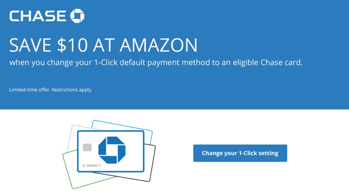 Amazon Discount Change Default Payment Method