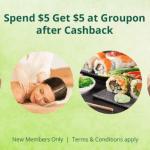 TopCashback Freebies – Spend $5 Get $5 at Groupon