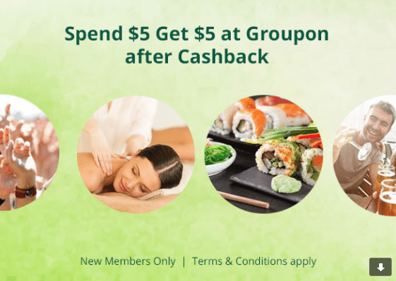Spend 5 Get 5 at Groupon