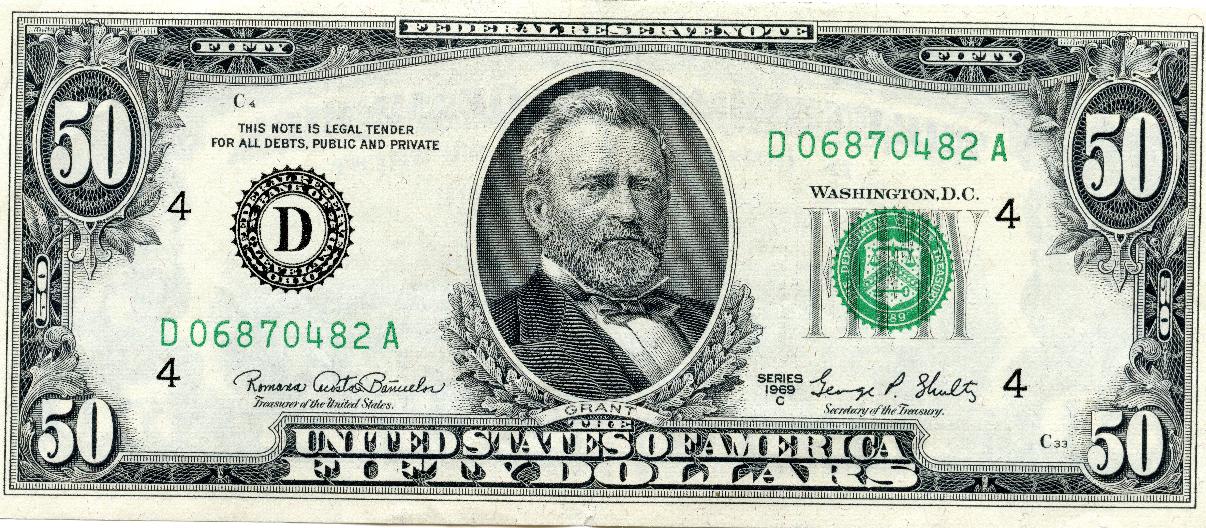 50 Dollar Bill USD