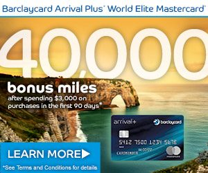 Barclaycard Arrival Plus Credit Card $400 Travel Statement Credit