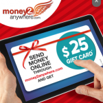 Money2anywhere Foreign Money Transmitter – $25 Gift Card To Transfer $500