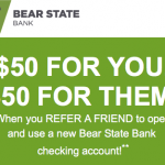 Bear State Bank $50 Personal Checking Refer-A-Friend Rewards – AR, MO and OK
