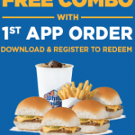 White Castle App – Free Combo with 1st Order – 4 Cheese Sliders, Fries and Drink
