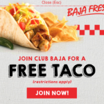 Baja Fresh Mexican Grill: Get a Free Taco to Join Club Baja