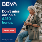 BBVA Checking $250 Bonus Cash Reward