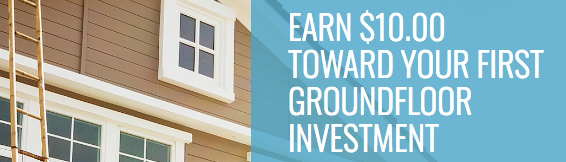 GROUNDFLOOR $10 First Investment Credit