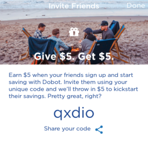 Dobot Savings App $5 Referral Bonuses