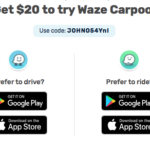 Waze Carpool $20 Referral Bonus Credit
