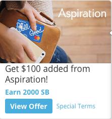 Aspiration Bank Swagbucks Bonus Deal