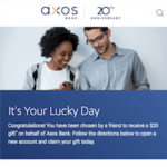 Axos Bank Checking Referral Bonus