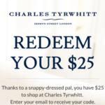 Charles Tyrwhitt Discount Code Referrals