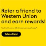Western Union Referral Program Bonus