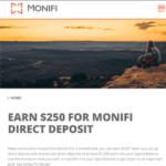 Monifi Banking App $250 Cash Bonus
